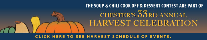 The Soup & Chili Cook Off and Dessert Contest are part of the HCBA's Annual HARVEST CELEBRATION CLICK HERE TO SEE HARVEST SCHEDULE OF EVENTS